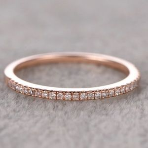 Jewelry - Rose gold 925 silver wedding band promise ring